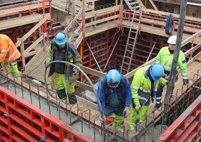 Støbning af betonbygværk