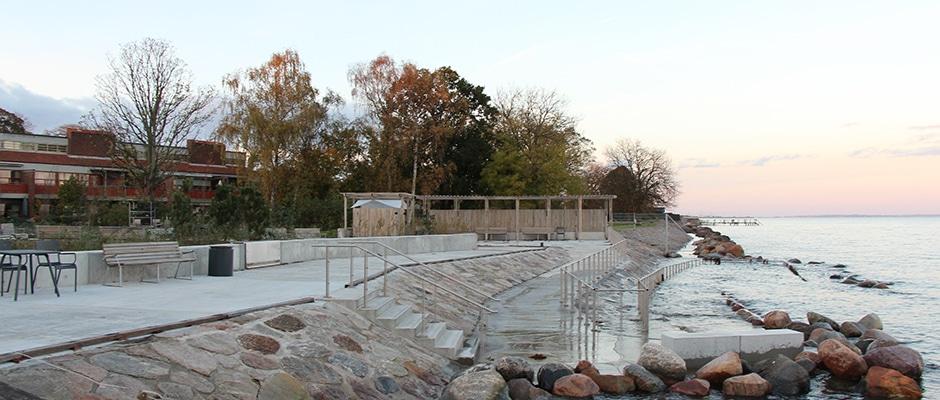 Højdevandssikring og insitu-beton for Dansk Handicap Forbund
