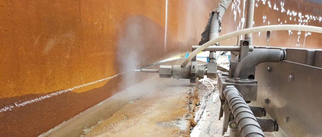 Vandskaering, skaansom betonnedbrydning
