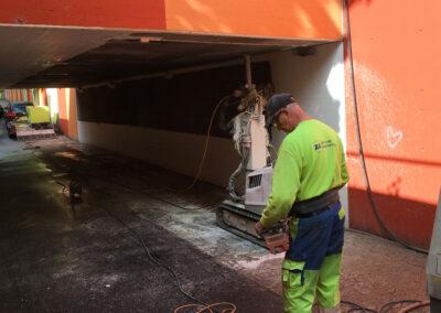 Afrensning og maling af tunneler i Ishøj